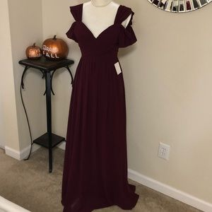 NWT Lulu's Wine/Burgandy Maxi Dress Size S
